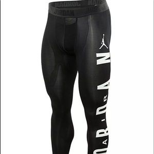 Jordan Nike Black Compression Training Tights Med